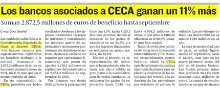The banks associated with CECA earn 11% more