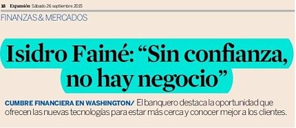 "Isidro Fainé: ""Without confidence, there is no business"""