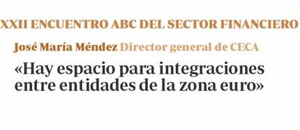 «Hay espacio para integraciones entre entidades de la zona euro»