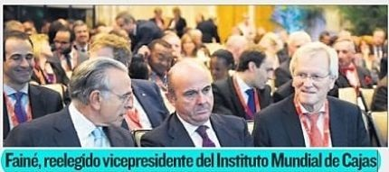 Fainé, reelegido vicepresidente del Instituto Mundial de Cajas