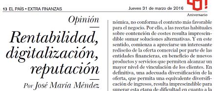 Rentabilidad, digitalización, reputación – José María Méndez