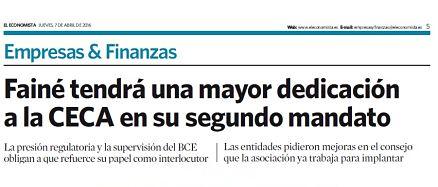 Fainé tendrá una mayor dedicación a la CECA en su segundo mandato