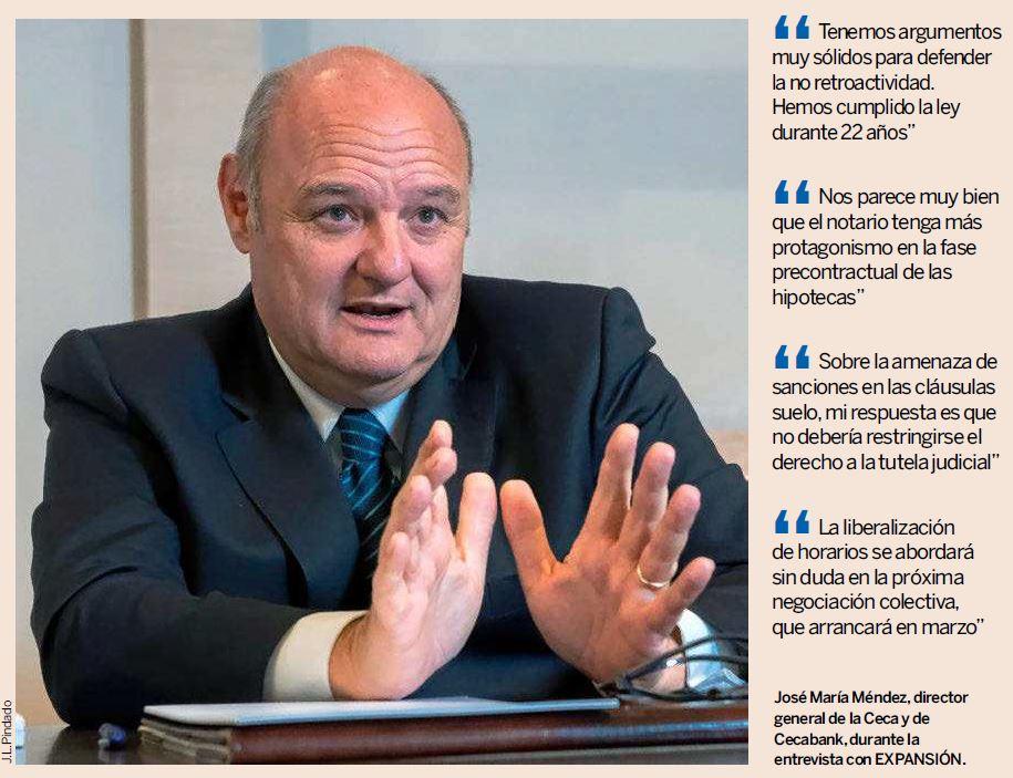 """José María Méndez: """"Tenemos argumentos muy sólidos para defender la no retroactividad. Hemos cumplido la ley durante 22 años"""""""